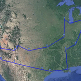 Google Earth Roadtrip Map